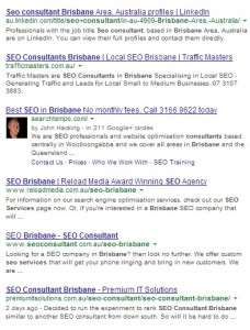 serp for SEO Consultant  Brisbane