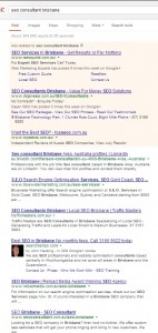 SEO Colsultant Brisbane serpf from the 10th of August 2013