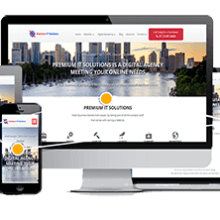 Premium IT Solutions Responsive Website Design