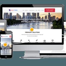 Premium IT Solutions Responsive Website Design