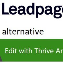 after a LeadPages alternative Thrive Architect maybe the answer
